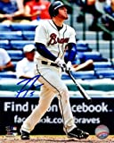 Autographed Freddie Freeman Photo - 8x10 #5 swing white jersey) - Autographed MLB Photos