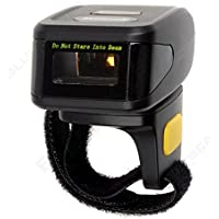 Blueskysea Portable Wearable Ring Barcode Scanner 1D Reader Mini Wireless Barcode Scanner 380mA Battery