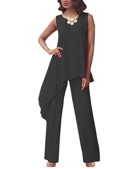 Amazon.com: Vestido de gasa para mujer, dos piezas, para ...
