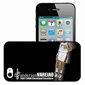 Personalized iPhone 4 4S Cell phone Case/Cover Skin Cleveland cavaliers nba cleveland cavaliers no anderson varejao desktop Black