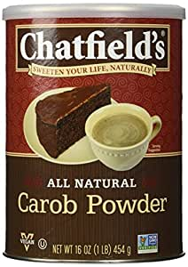 Chatfields All Natural Carob Powder, Unsweetened, 16 Ounce