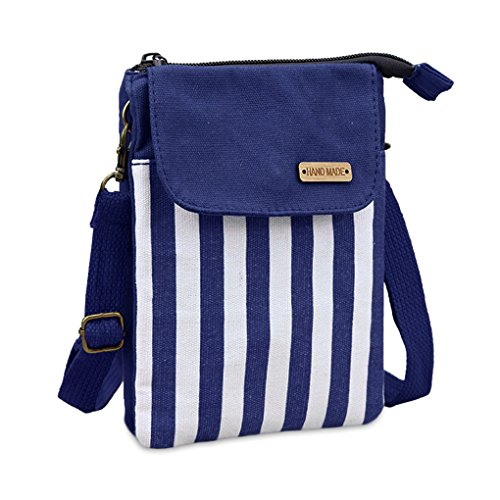 Canvas Cute shoulder Small Women Cellphone Adjustable Bag single Bag Shoulder WITERY Pouch Shoulder Crossbody Wallet Candy strap Cellphone Mini Strap Purse with 4 Bags Blue 57AZgqpWZ
