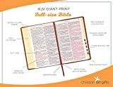 KJV Holy Bible, Giant Print Full-Size, Antiqued