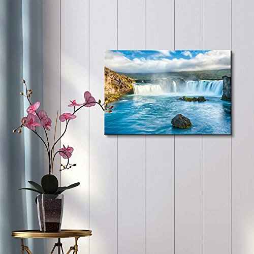 Beautiful Scenery Landscape Icelandic Waterfall Godafoss Home Deoration Wall Decor