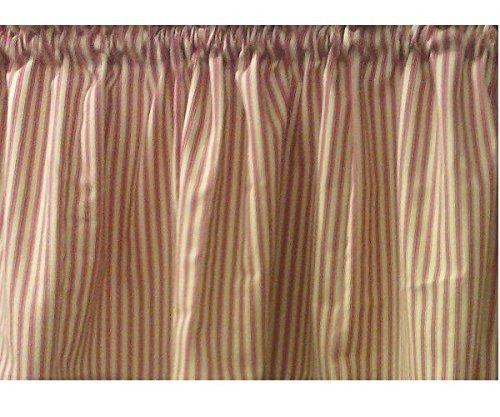 (Window Curtain Valance Waverly fabric Timeless Ticking color Spice (Turmeric Curcumin /)