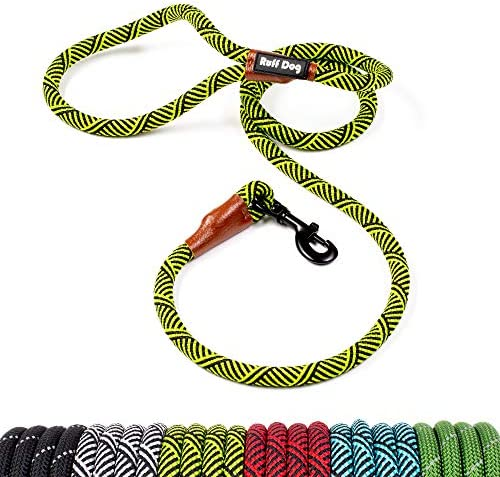 Ruff Dog Rope Leash Green