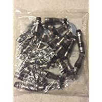 PPC RG11 Coax Compression Connectors Qty of 25: EX11N716WS with AquaTight Seal for Quad Shield, PE, and PVC jacket Coaxial Series Cable