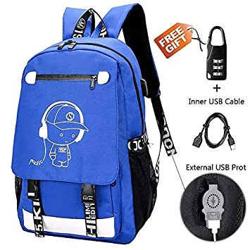 d2065f5bf2 Anime Backpack Luminous Backpack Boys School Backpack Noctilucent School  Bags Boys Bookbags for High School USB