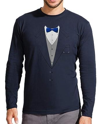 latostadora - Camiseta Traje Pajarita Azul para Hombre ...