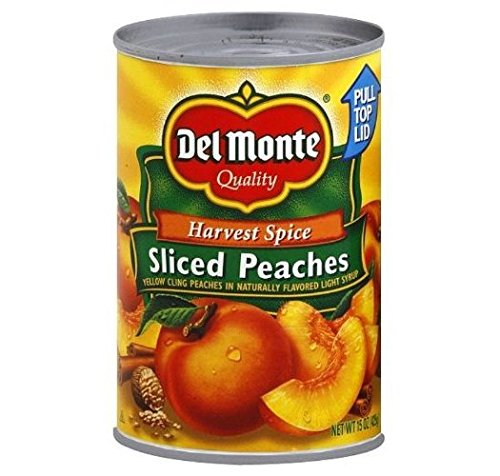 Del Monte, Harvest Spice, Sliced Peaches, 15oz Can (Pack of 6) - Harvest Peach