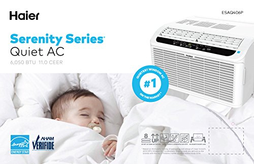 Haier Esaq406p Serenity Series 6050 Btu 115v Window Air