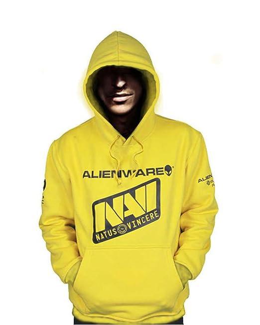 Casual Vincere NAVI Cosplay Top Grade Yellow Hoodie Coat Sweater Outwear
