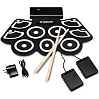 BABY JOY Electronic Roll Up Drum Kit w/ 9 Electric Drum...