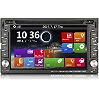 YUNTX In-Dash Double Din WIN 8 UI 6.2HD Touch Screen GPS Navigation Car Dvd Player Stereo Reciver + Backup Camera