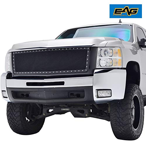 Grille Shell Kit - EAG Black Steel Mesh Evolution Replacement Grille