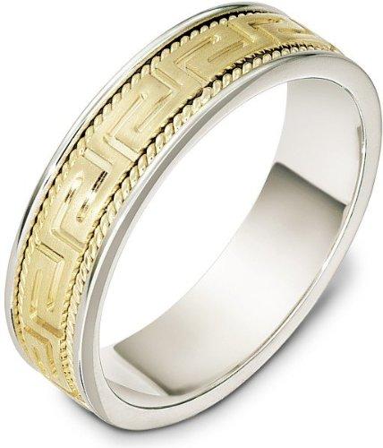 Titanium Greek Key Ring - 7