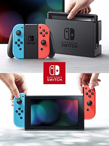 Nintendo Switch Bundle: 32GB Console Red and Blue Joy-Con, Nintendo Switch Wheel (set of 2), Deluxe Travel Case and… 8