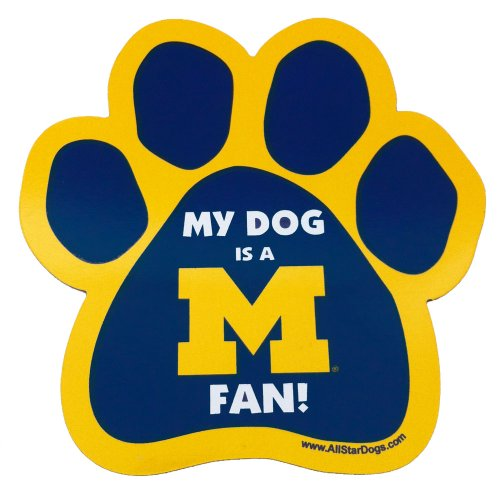 NCAA Michigan Wolverines Paw Print Car Magnet
