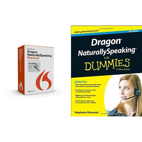 Dragon NaturallySpeaking Premium 13 Bluetooth (Wireless) and Dragon NaturallySpeaking For Dummies Bundle