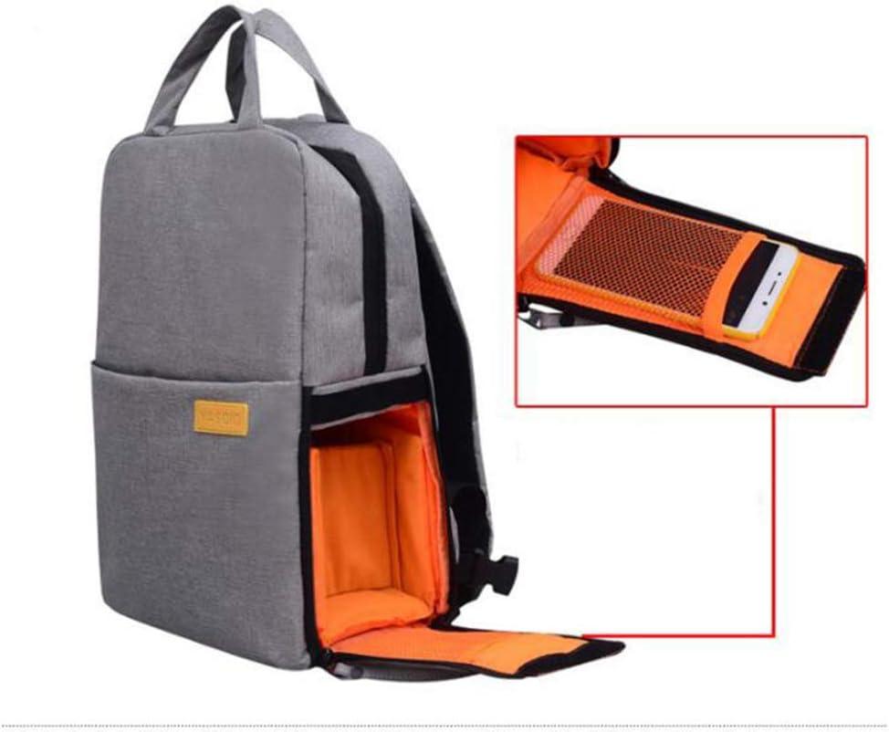 Mzl Multi-Function Camera Backpack Laptop Waterproof Grey Black Blue Unisex