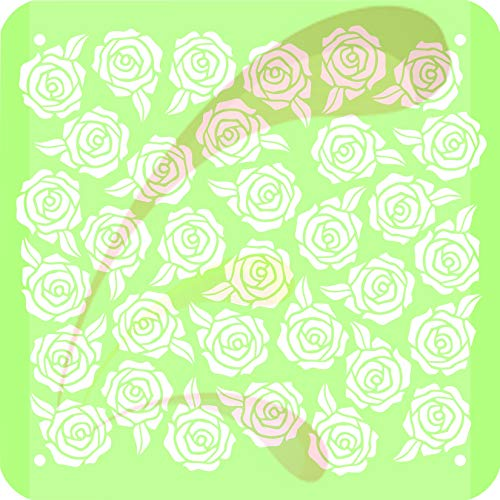 Roses 1 in, Cookie stencil, Cake Stencil, Coffee Stencil, Candy Stencil, Cupcake stencil for Royal Icing, powder sugars, for cake tops, 4