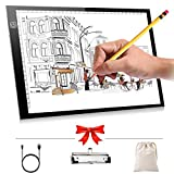Light Box Drawing Tracing A4 LED Light Tracer 0.2inch Ultra-thin Light Table for Artists Art Sketching with Brightness Adjustable,Power by USB