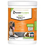 ThunderWunders Hemp Dog Calming Chews - Anxiety Supplement with Hemp Seed and Oil, Thiamine, L-Tryptophan, Melatonin and Ginger (Relieve Stress from Separation, Storms, Fireworks & Travel- 60ct)