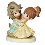 Precious Moments, Disney Showcase Collection, You Are My Fairy Tale Come True, Beauty And The Beast, Bisque Porcelain Figurine, 161013