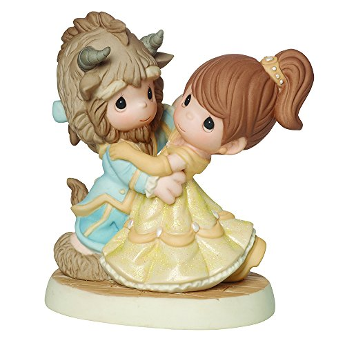 (Precious Moments, Disney Showcase Collection, You Are My Fairy Tale Come True, Beauty And The Beast, Bisque Porcelain Figurine, 161013)
