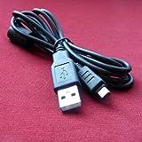 Olympus Evolt E-500 & E500 Digital Camera Compatible USB 2.0 Cable Cord - CB-USB5 & CB-USB6 Model - 4.5 feet Black - Bargains Depot®