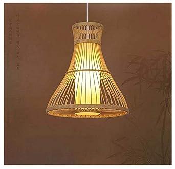 Luz decorativa Vintage shabby green bamboo art es la lámpara ...