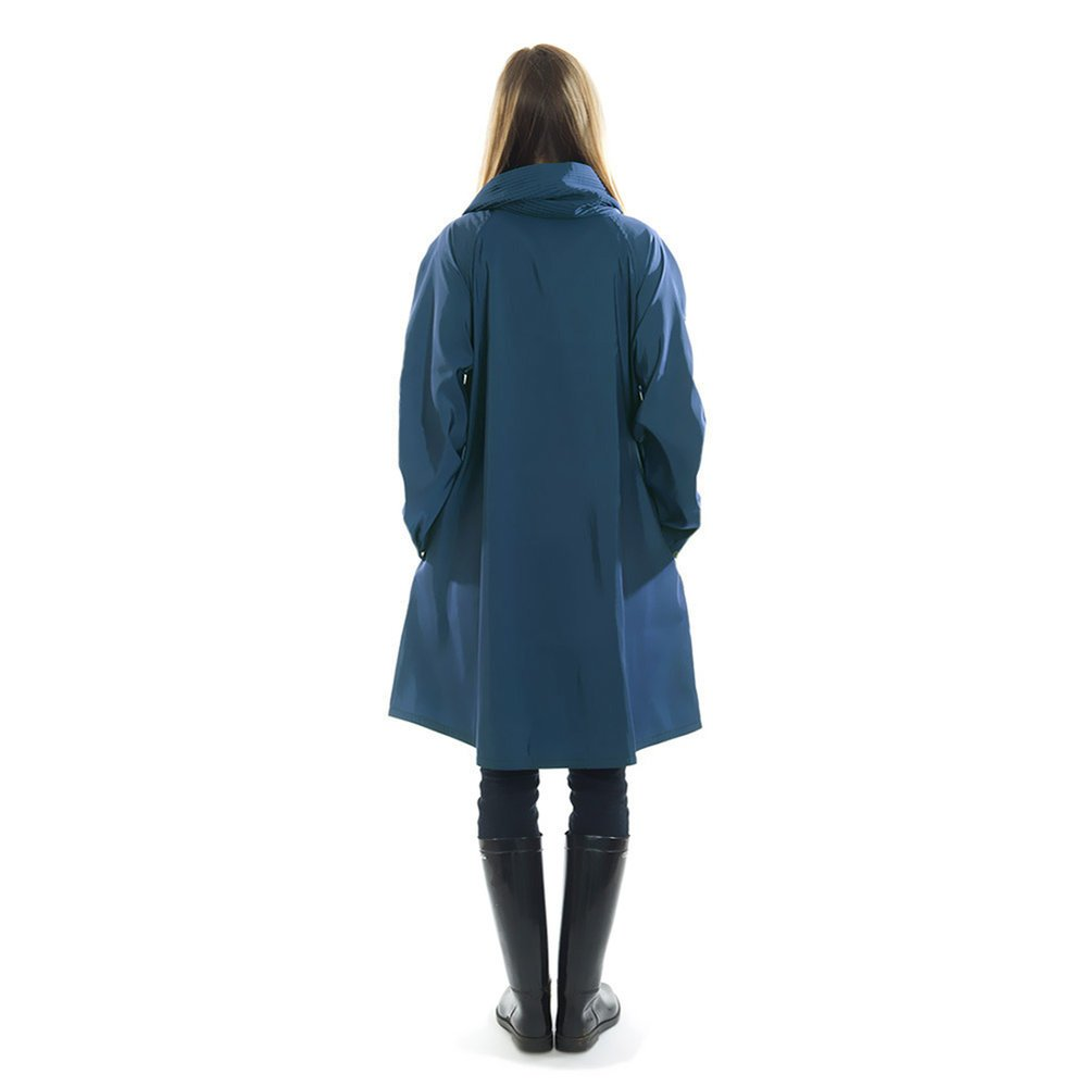 Mycra Pac Short Donatella Fashion Travel Raincoat (Extra Small, Sapphire) by Mycra Pac (Image #5)