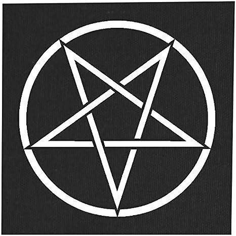 Amazon Com Inverted Pentacle Back Patch Pentagram Demonic Devil Evil Goat Mendes Skull Goat S Head Gothic Metal Occult Satan Satanic Skeleton Voodoo Wicca Baphomet Sigil Of Lucifer Leviathan 14 X 14 Inches