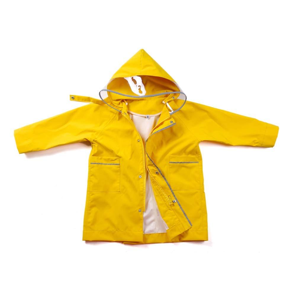 S Imperméable pour enfants Guyuan Poncho pour bébés avec des Sacs d'Âge Scolaire - garçons et Filles (Taille   S)