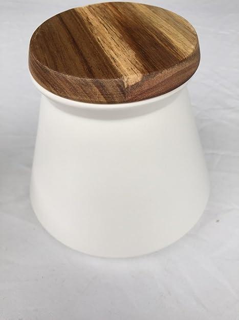 Vorratsdosen Keramik Landhaus vorratsdose creme keksdose modern keramik mit holzdeckel dose