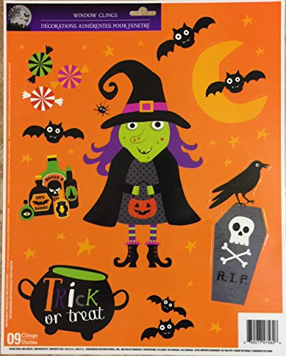 Halloween Window Clings Party Accessory 3 styles Witches Bats Pumpkins Ghosts Spiders (Homemade Halloween Costumes For Kids Bat)