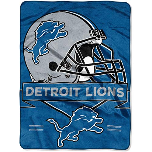 "NFL Detroit Lions Prestige Plush Raschel Throw, 60"" x 80"""