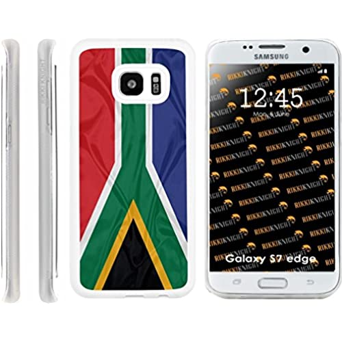 Rikki Knight South Africa Flag Design Samsung Galaxy S7 Edge Case Cover (Clear Rubber with front Bumper Protection) for Samsung Galaxy S7 Edge ONLY Sales