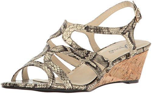 Gold Women's Annie Shoes Sandal Aspen Espadrille Wedge YHqHF5a