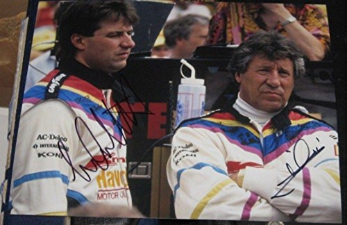 Mario Andretti Signed Photo - Michael Racing Indy 500 8x10 COA IRL - Autographed NASCAR Photos ()