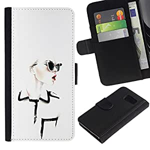 All Phone Most Case / Oferta Especial Cáscara Funda de cuero Monedero Cubierta de proteccion Caso / Wallet Case for Samsung Galaxy S6 // Design Clothing Chique Glamorous