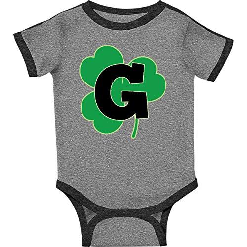inktastic - Irish Shamrock Infant Creeper 6 Months Ringer Heather and Smoke -