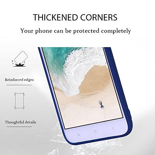 Funda Xiaomi Redmi 5A, Carcasa Redmi 5A, RosyHeart Suave Opaco gel Silicona TPU Cover del Delgado Ultra Fina Goma Mate Case del Flexible Tapa Anti-arañazos Protector Caja Bumper para Xiaomi Redmi 5A 5 Azul oscuro