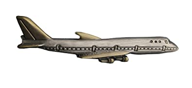 Breve avión lazos aguja o alfiler de corbata con 5,8 cm antiguo ...