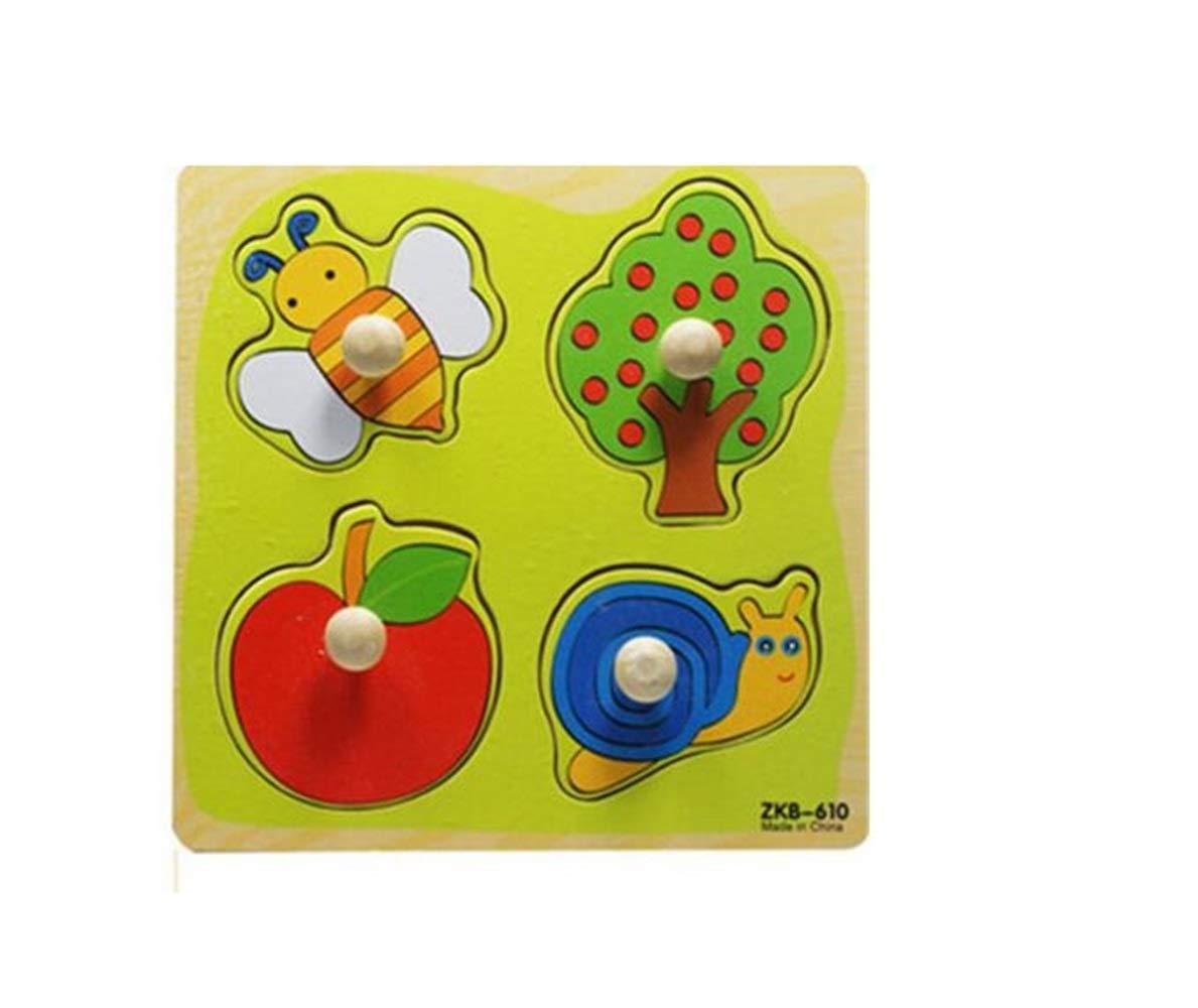 Zicue Educativos Niños Jigsaws Rompecabezas de Madera Lindo Cognitive Board Early Learning Toy niños (Orchard)