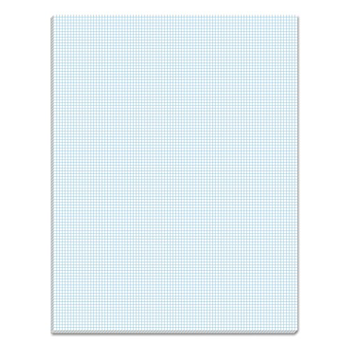 TOPS 33101 Quadrille Pads, 10 Squares/Inch, 8 1/2 x 11, White, 50 Sheets