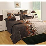 Yuga 100% Cotton AbstractPremium Quality 1 Pc Brown and Beige Duvet Cover Twin Size 60 x 90 Inches