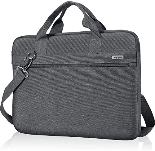 Voova Laptop Sleeve Bag 17-17.3 Inch Carrying Case, 360° Protective Computer Bag Compatible with Razer Blade Pro 17, Lenovo Asus Acer Dell Hp Notebook with Shoulder Strap for Men Women,Waterproof,Gray