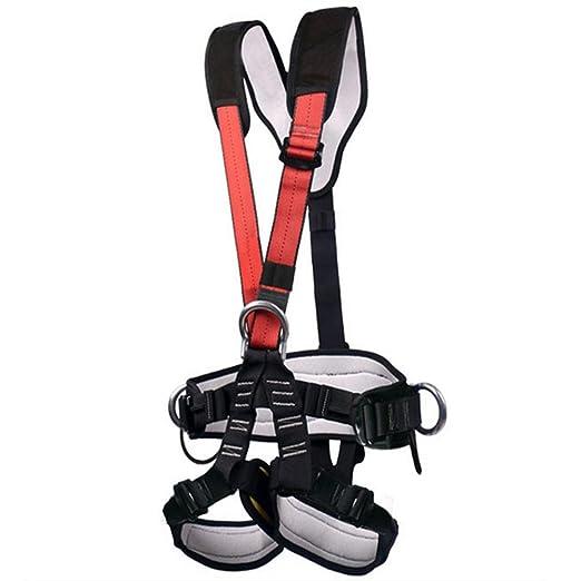OAGHL Arnés de escalada, seguro cinturones de montaña hacia el ...