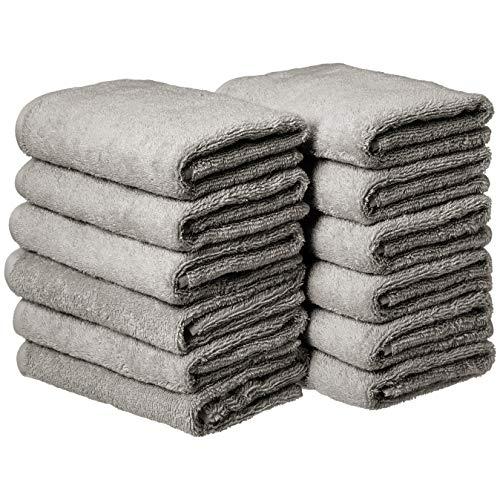AmazonBasics Cotton Hand Towel - 12-Pack, ()